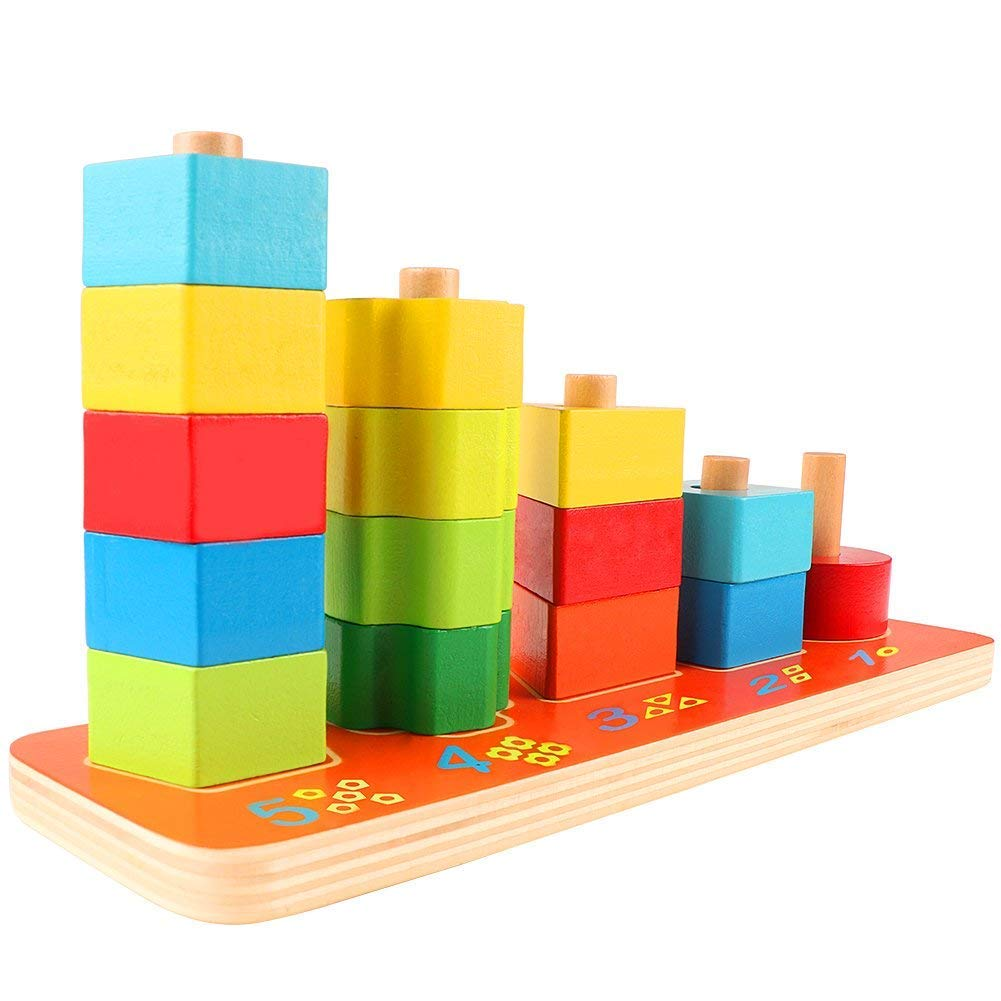 Shapes Sorter xintong Wooden Preschool Shape Sorter Color Recognition Geometric Stacking Games Educational Toys for Baby Toddlers