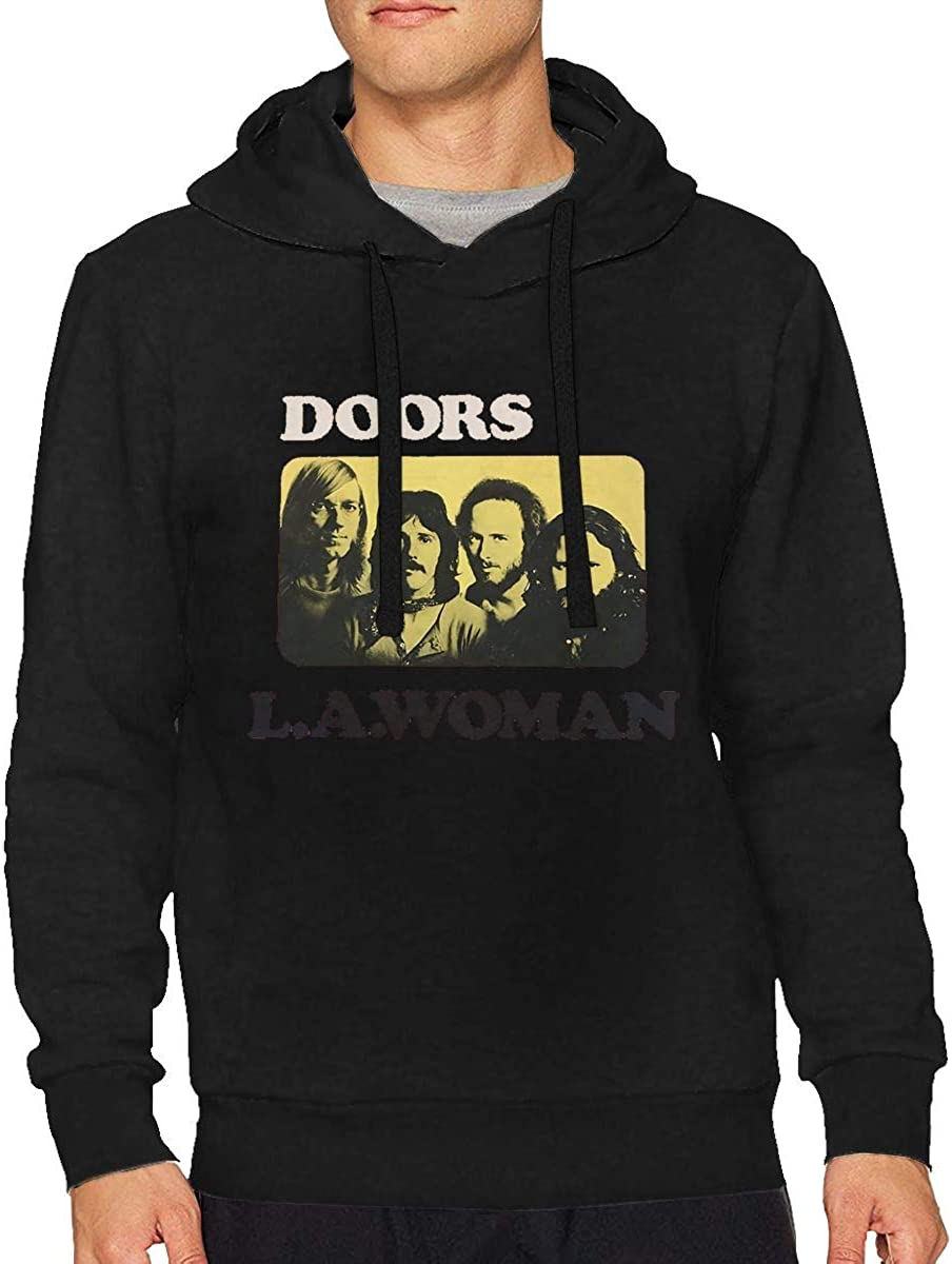 Long Sleeve Hooded Sweat Shirt Pullover Mens The Doors L.A