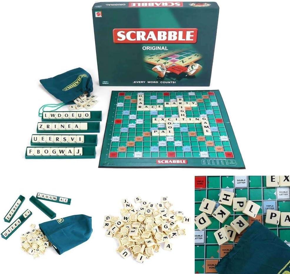 Scrabble board game set 100 letters playing board original in UK