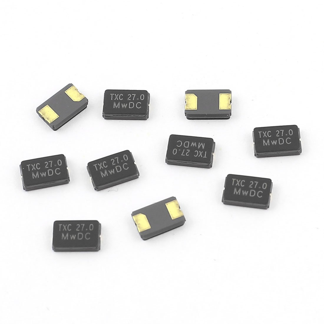 Aexit 10 Pcs Passive Components 27MHz 27.000Hz SMD 2Pin Passive Crystal Crystals Oscillator 5032