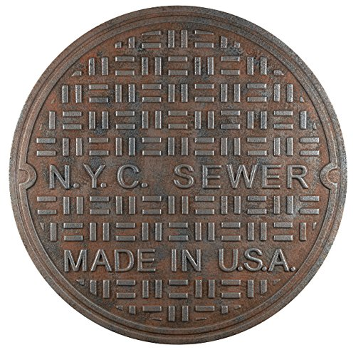 New York City Home Decor Interior Wall Manhole Cover Sewage Lid Basin Casting
