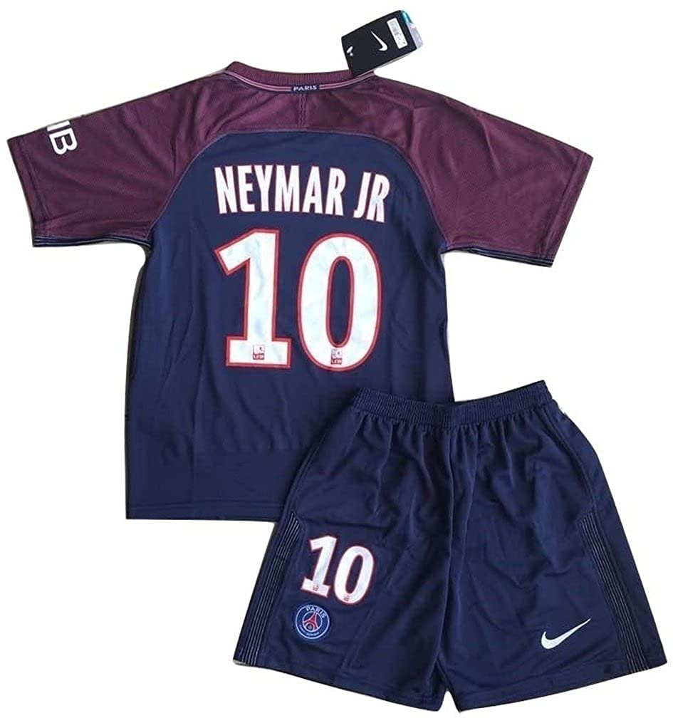 low cost b3bfc ae52b Neymar #10 2018 New PSG FC Home Jersey & Shorts for Kids/Youth
