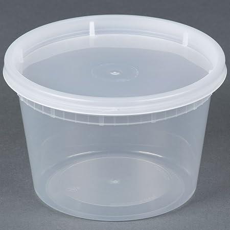 16 oz. translúcido para microondas recipientes de plástico cierre ...