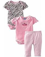 Bon Bebe Baby Girls' Princess Crown 3 Piece Pant