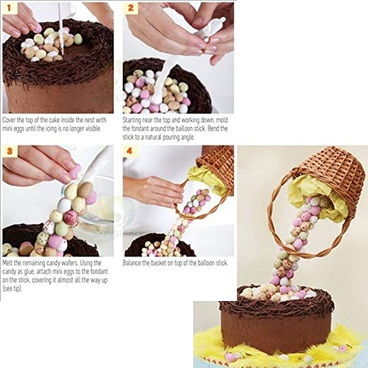 Leegoal Cake Support Structure Anti Gravity Cake Pouring Kit Reusable Sugar Structure Kit for Birthday//Wedding//Anniversary Party Cake Decorating Armature Frame