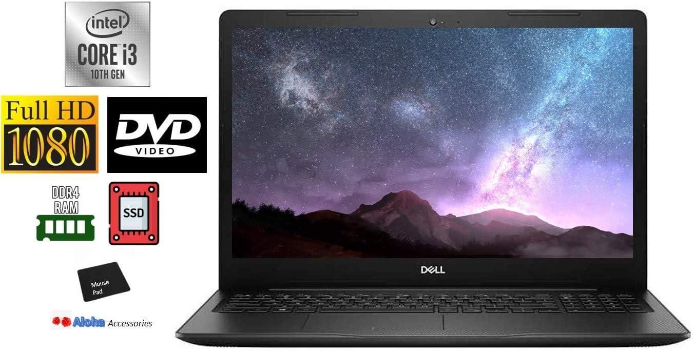 Dell Inspiron 3793 Premium 17.3'' FHD 1080P Non-Touch Laptop Computer Intel 10th Gen i3-1005G1 up to 3.4GHz 8GB RAM 1TB HDD Webcam DVD-RW HDMI WiFi Windows 10 Home, Aloha Bundle