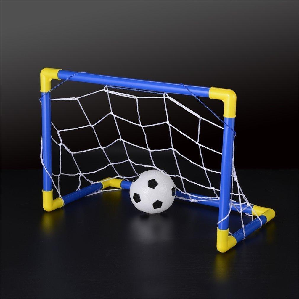 FairytaleMM Pieghevole Mini Calcio Calcio Goal Post Net Set con Pump Kids Sport Toy