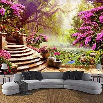 BZDHWWH Tamaño Personalizado 3D Foto Mural Etiqueta De La Pared Jardín De La Fantasía Papeles De Pared Arte Decoración Para El Hogar,450Cm (W) X 280Cm (H): Amazon.es: Bricolaje y herramientas