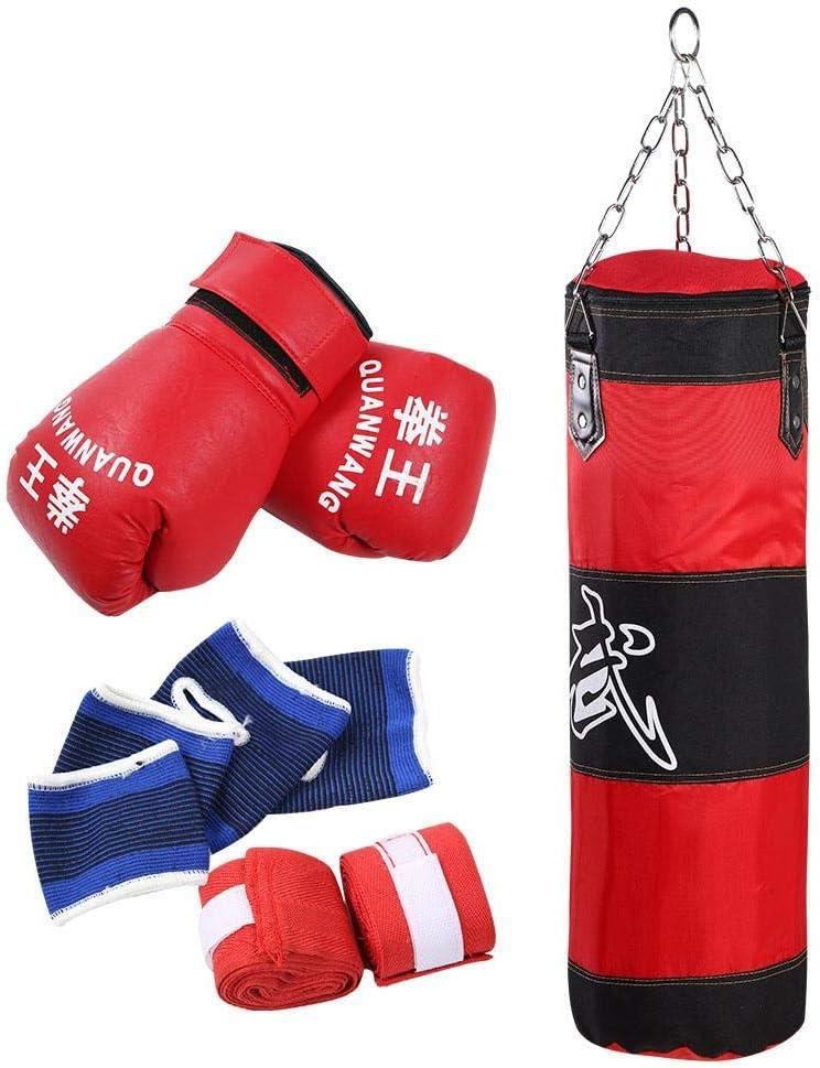 Alomejor Saco De Boxeo para Niños Entrenamiento MMA Muay Thai Boxeo Saco De Arena Colgante