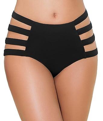 465e292a665 Amazon.com: Mapale High-Waist Cut-Out Bikini Bottom: Clothing