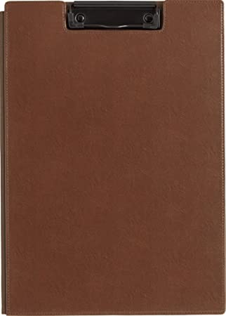 amazon com kingjim a4 synthetic leather clipboard brown office