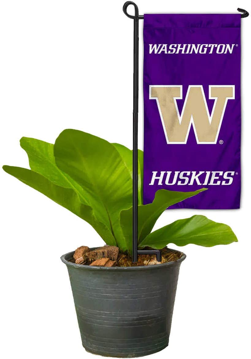 College Flags & Banners Co. Washington Huskies Mini Garden and Flower Pot Flag Topper