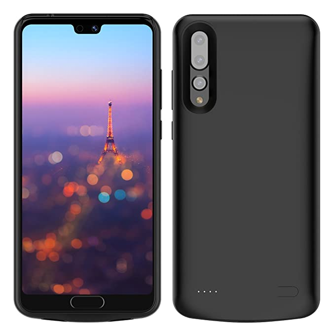 timeless design bf80c 4393d Huawei P20 Pro Battery Case, Moonmini 6000mAh Rechargeable Portable  External Battery Extra Pack Power Bank Slim Extended Backup Charging  Protective ...