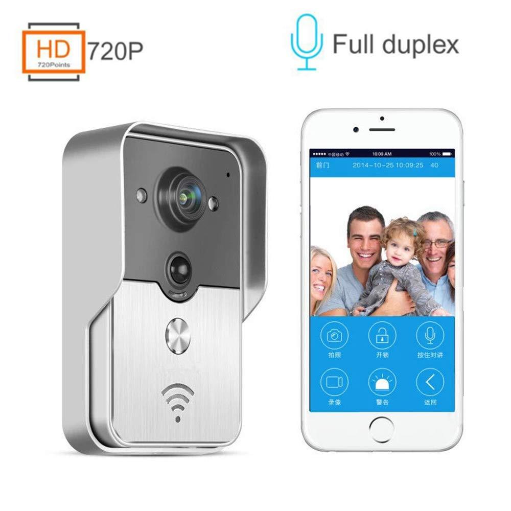 Mengen88 Wifi video doorbell, ultra low power home alarm intelligent wireless video intercom doorbell mobile phone remote video for indoor and outdoor