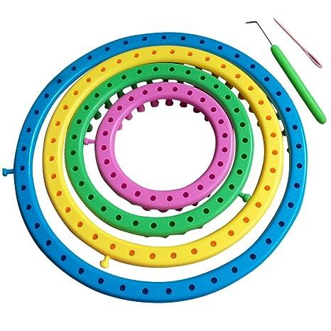 14cm, 19cm, 24cm, 29cm para Tejer con Lana Cascacavelle Kit de 4 telares Circulares para Tejer