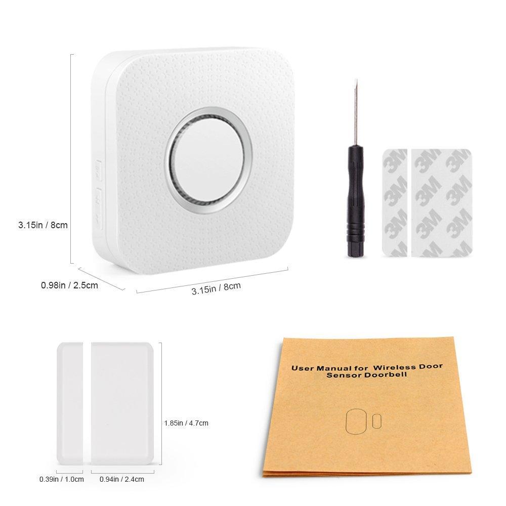 Wireless Door Sensor Alarm Chime, BITIWEND Home Security Window Entry Alert With Operating Range 600 feet/52 Chimes For Home/Garage/Shop (1 Door Sensor & 1 Receiver) by BITIWEND (Image #8)
