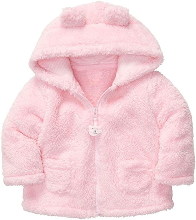 Kolylong/® Baby Boy Girl Newborn Hoodies Coat Thick Tops Children Carter Style Outerwear for 0-24 Months