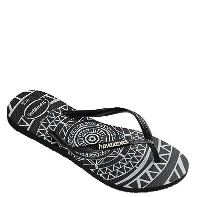 6b50dd14e7d7b9 Havaianas Women s Slim Mandala Sandal Black White 37-38 BR 7-8 B(M) US  Women 5-6 D(M) US Men  Amazon.co.uk  Shoes   Bags