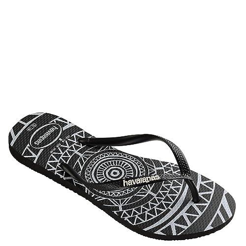 8f22a60647f4 Havaianas Women s Slim Mandala Sandal Black White 35-36 BR   5-6