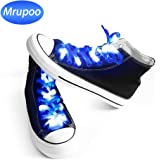 Mrupoo LED Shoelaces Light Up 3 Flashing Modes Battery Powered Nylon Shoestring Lighting the Night for Christmas Party Hip-Pop Dancing Cycling Running Walking Cosplay Decorations