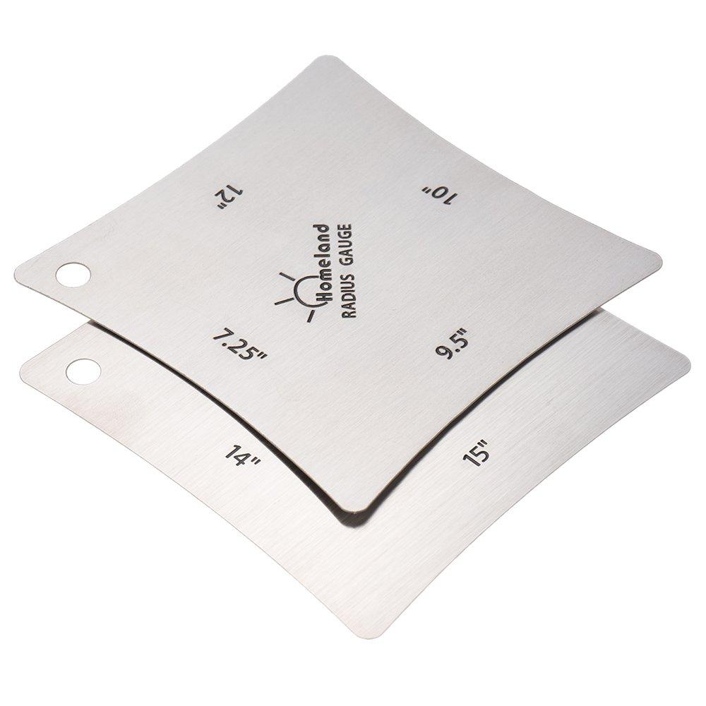 ammoon 2pcs Guitar Fingerboard Fretboard Saddle Nut Radius Gauge Measuring Stainless Steel Tool QVO1077280099402CJ