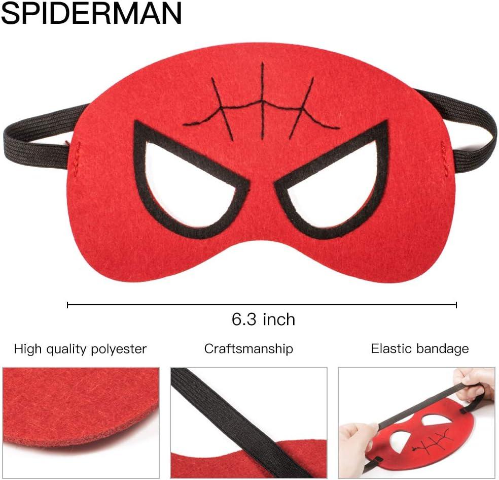 NUOVI Bambini Adulti SPIDER MAN Eye Mask Costume Divertente Super Eroe Maschera di Spider Man
