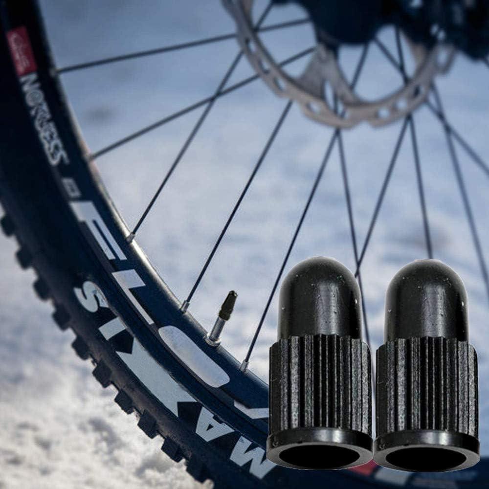 N\A 100 Pcs Presta Valve Caps Durable Plastic Black Presta Valve Stem Caps for Road Bike and Bicycle