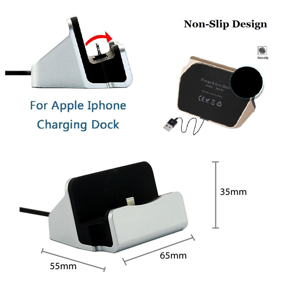 iMoreGro Phone Dock Charging Stand Dock Station Compatible iPhone X ...