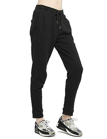 217dc7f8fb3ce T-INSIDE Sweatpants with Pockets Women's Leisure Gray Joggers Pants Black