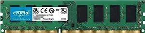 Crucial 8GB Single DDR3/DDR3L 1600 MT/s (PC3-12800) DR x8 ECC UDIMM 240-Pin Memory - CT102472BD160B