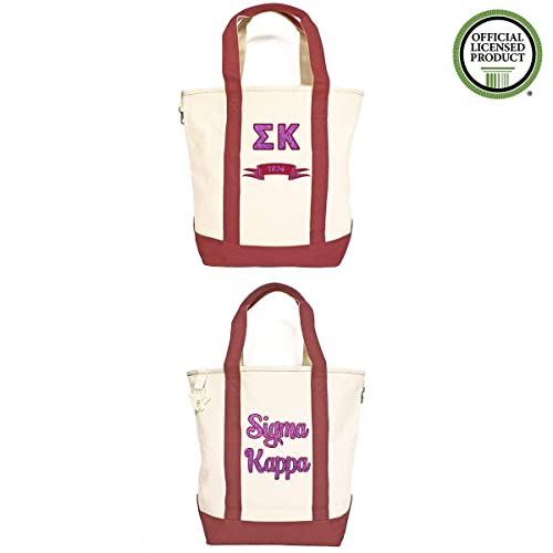 7f85dbc479 Amazon.com: Sigma Kappa Heavy Canvas Tote Bag: Handmade
