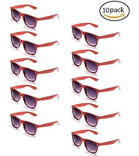 e3bfc888a2c557 ONNEA 10 Paare Party Favors Sonnenbrille Set Sommer Kinder Damen (Rot 10 -Pack)