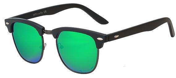 HZ Series StratMaster – Lunettes de soleil polarisées Premium en polycarbonate de haute qualité de Hornz – Cadre gris Gunmetal – Objectif miroir Vert émeraude 5shTX9dBOp