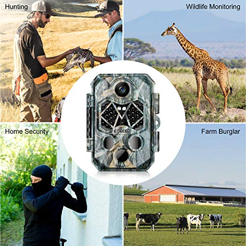 """ENKEEO PH770 Trail Camera 20MP 1080P HD Game Cam Wildlife Hunting with 45pcs 940nm IR LEDs Night Vision, IP66 Water Resistant, 0.2s Trigger Time, 2.4"""" LCD Screen"""
