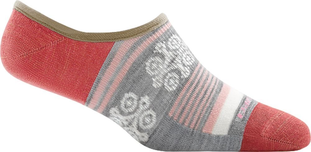 Darn Tough Topless Stripe No Show Light Sock - Women's Gray Medium