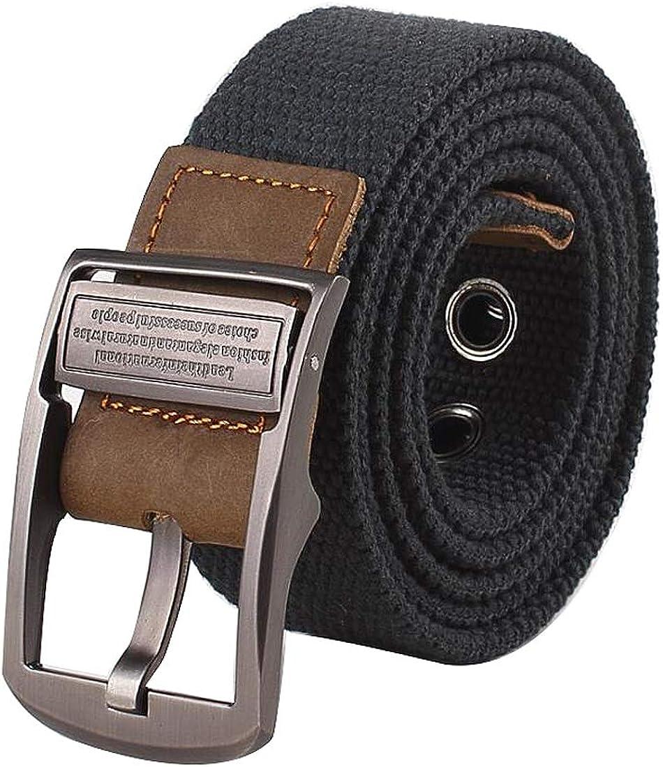 Irypulse Hombres Mujeres Cinturón Trenzado de Lona Cuero de PU Tela para Hebilla giratoria del vintage con Cinturones de Unisex Adecuado para el ocio Formal Negocios Fiesta: Amazon.es: Ropa y accesorios