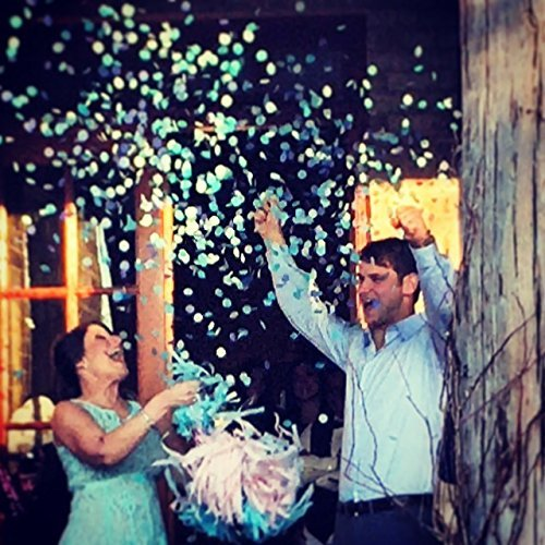 Giant Confetti Filled Black Gender Reveal Balloon with Tassel Tail / 36