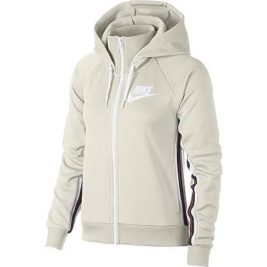 9281dabe3 Nike Sportswear Full-Zip Tracksuit Hoodie (Phantom Barely Volt-White ...