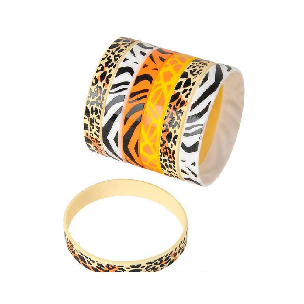 Rubber Safari Print Bracelets (With Sticky Notes)
