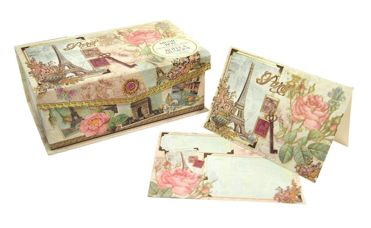 Punch Studio Paris Music Box Note Cards (Set of 10 Cards)