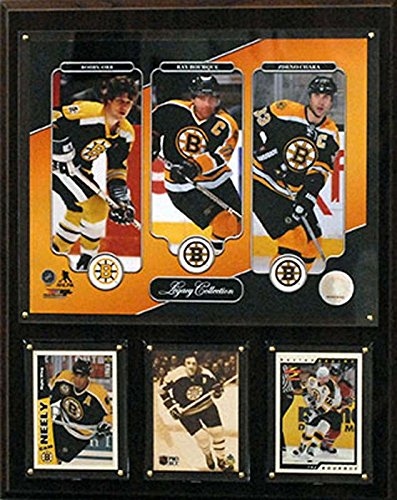 NHL Boston Bruins Bobby Orr/Ray Bourque/Zdeno Chara 12x15-Inch Legacy Collection Plaque