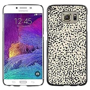 Be Good Phone Accessory // Dura Cáscara cubierta Protectora Caso Carcasa Funda de Protección para Samsung Galaxy S6 SM-G920 // Pattern Cheetah Beige Black