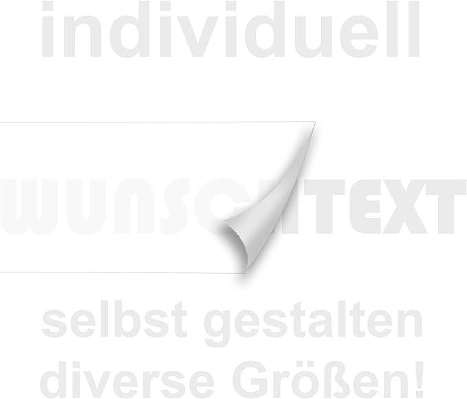 Wunschtext Aufkleber Hier Selbst Gestalten Länge Ab 10cm Bis 150cm 010 Weiss Auto