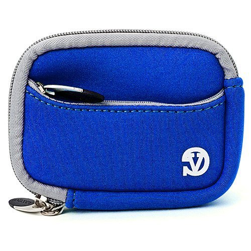 VanGoddy Mini Glove Sleeve Pouch Case for Leica C-LUX 3 V-Lux 20 Leica C (Typ112) Point & Shoot Digital Cameras (Magic Blue)