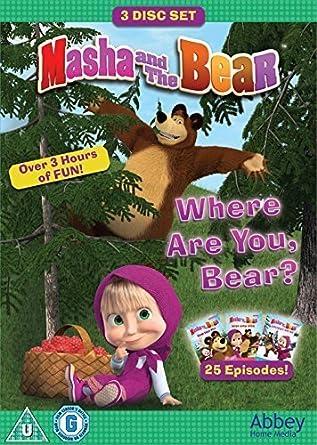 99e482c245201 Masha And The Bear - Where Are You, Bear? Triple DVD Box Set: Amazon ...