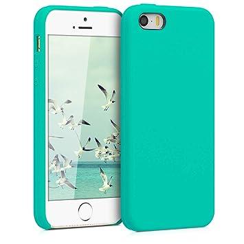 kwmobile Funda para Apple iPhone SE / 5 / 5S - Carcasa de TPU para teléfono móvil - Cover Trasero en Turquesa