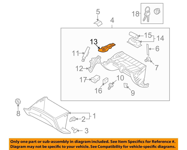 Genuine Hyundai 84520-3M010-BR Glove Box Knob Assembly