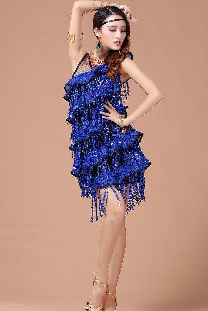 Mujer Vintage Vestidos de cóctel Fiesta de vestido Samba Rumba Tango para vestido de noche, color azul cobalto, tamaño Fits unders 130lbs: Amazon.es: ...