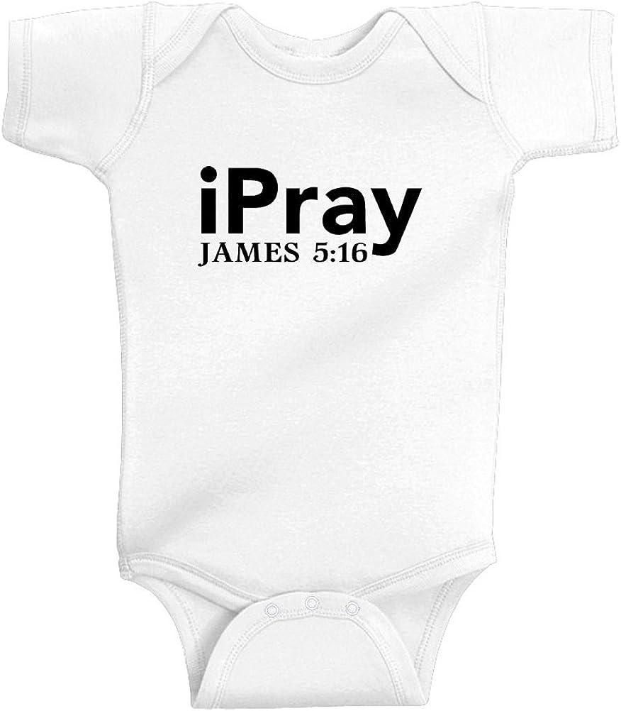 T-Shirt Romper Black Text Mashed Clothing Unisex Baby iPray James 5:16