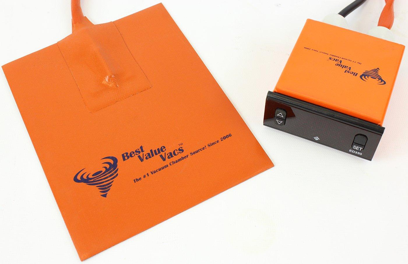 Best Value Vacs Brand- 5.5'' x 7'' Vacuum Chamber Digital Heat Pad